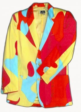 Stephen Sprouse, Andy Warhol Silk Camouflage Jacke