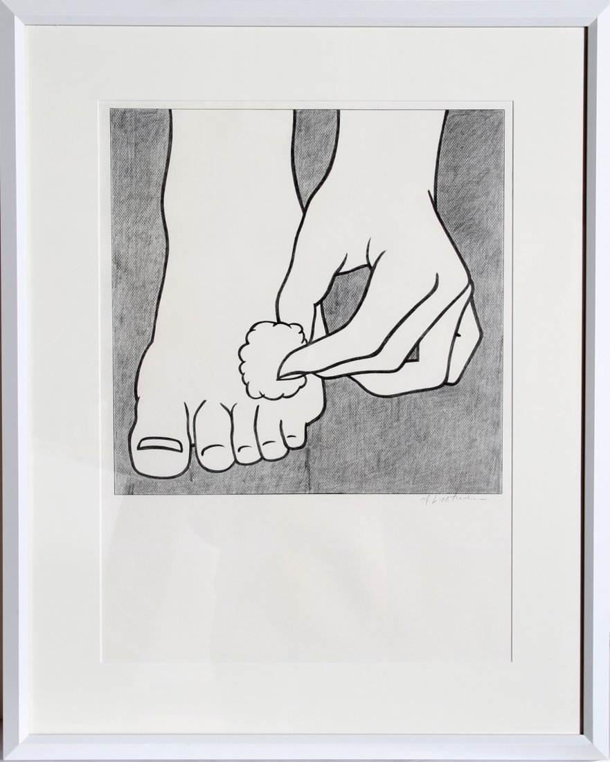 518: Roy Lichtenstein, Foot Medication, Offset Lithogra