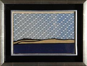 Roy Lichtenstein, Landscape, Silkscreen And Rowlux