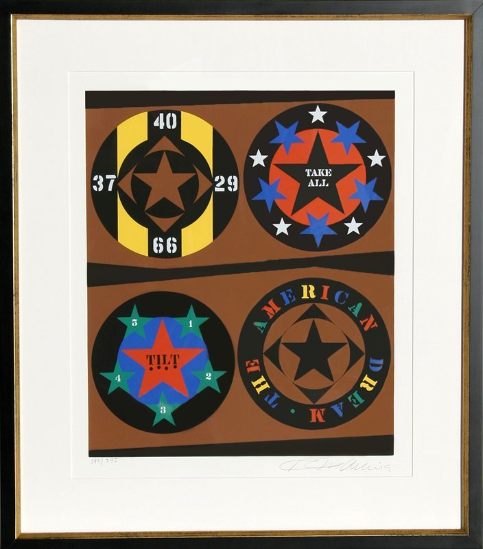 534: Robert Indiana, Tilt from The American Dream Portf