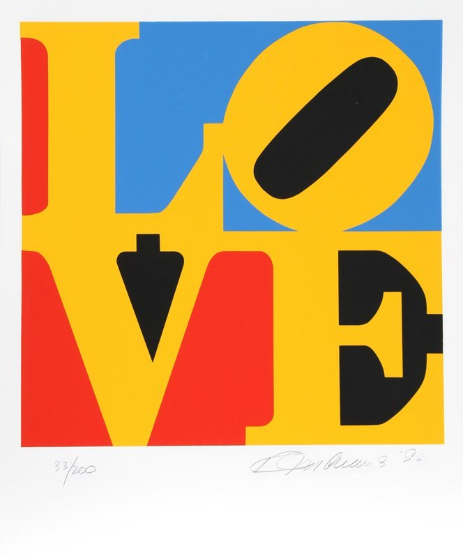 537A: Robert Indiana, Book of Love 6, Serigraph