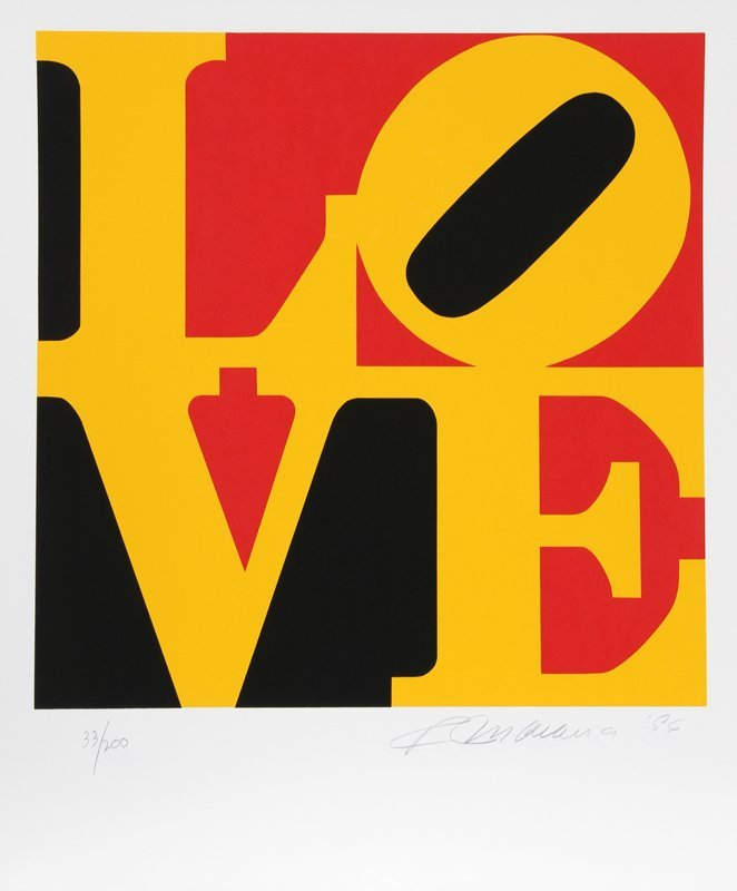 537B: Robert Indiana, Book of Love 9, Serigraph