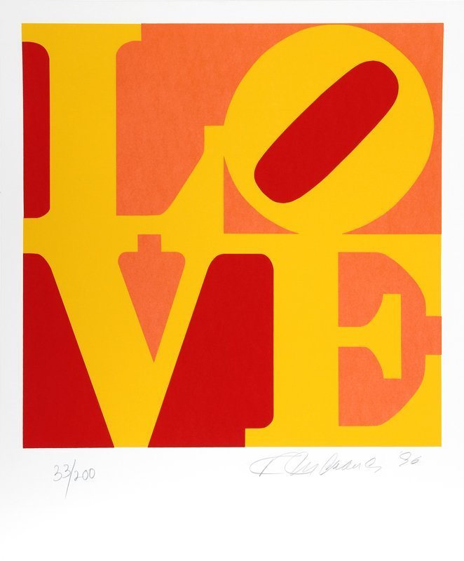537C: Robert Indiana, Book of Love 10, Serigraph