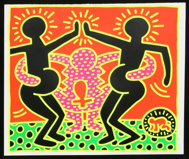 541: Keith Haring, Fertility No. 5, Silkscreen