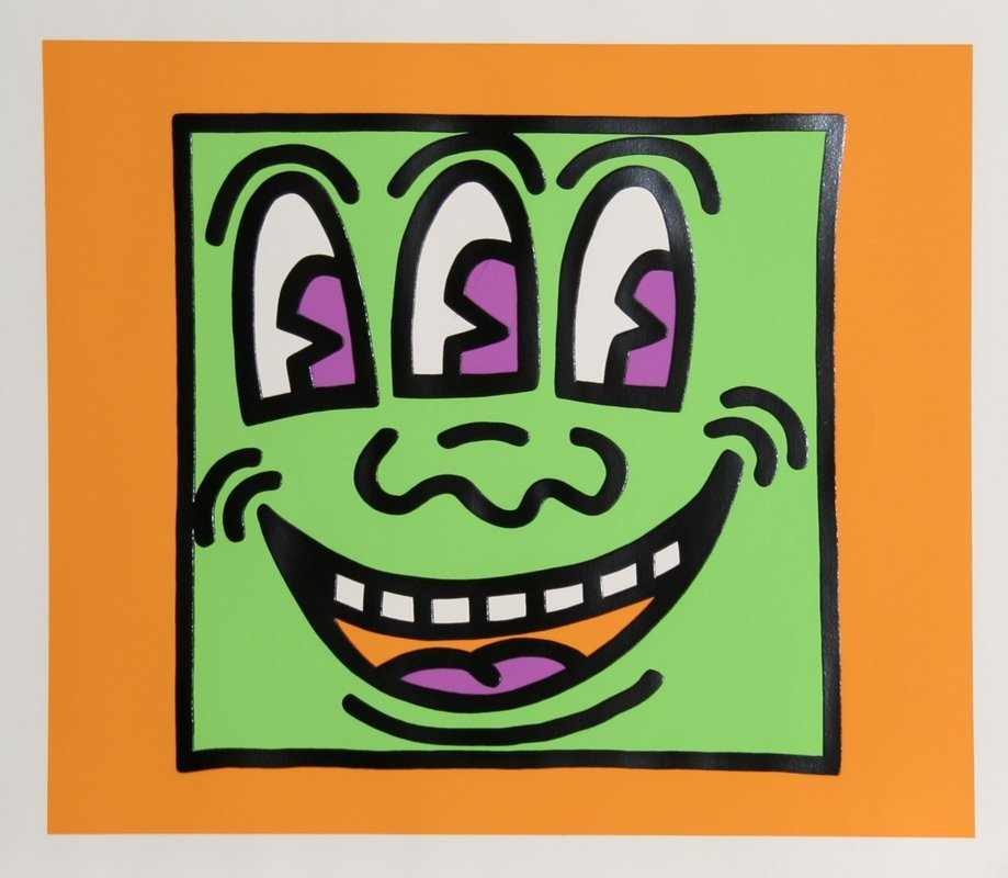 543: Keith Haring, Icons - Three Eyes, Silkscreen