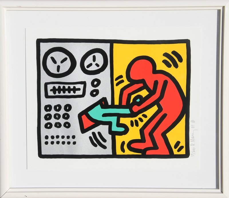 544: Keith Haring, Pop Shop III - Computer, Silkscreen