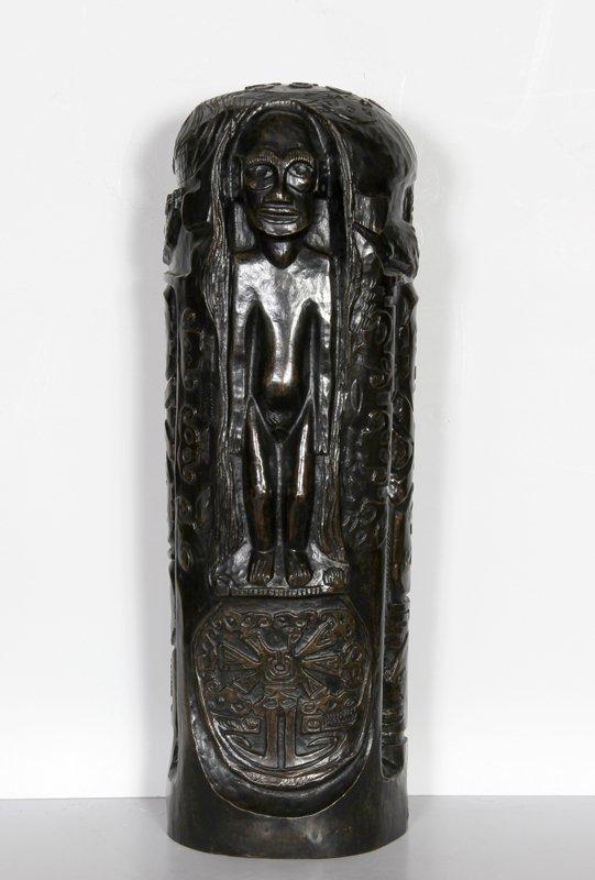 5: Paul Gauguin, Cylindre au Christ à l'Idole, Bronze S