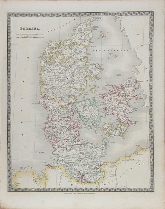 6: John Dower, Map of Denmark, Engraving