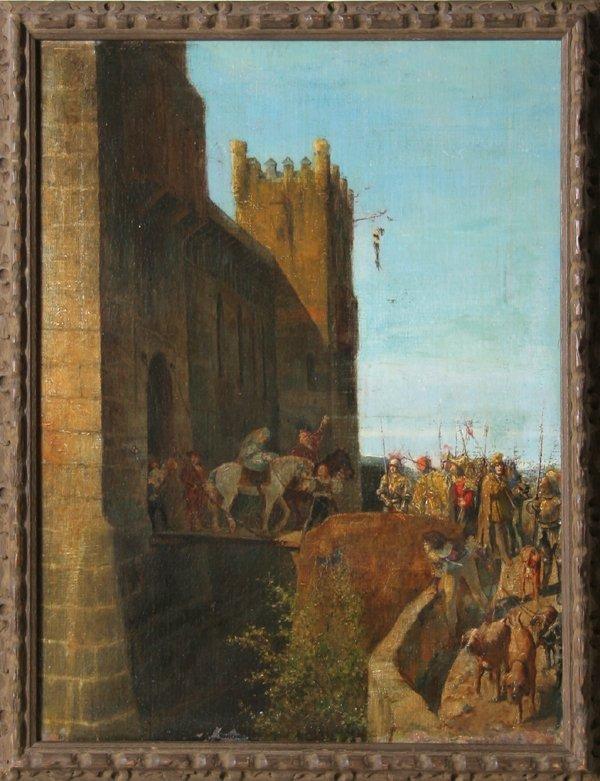 8: Armando Menocal, Spanish Castle, Oil Painting