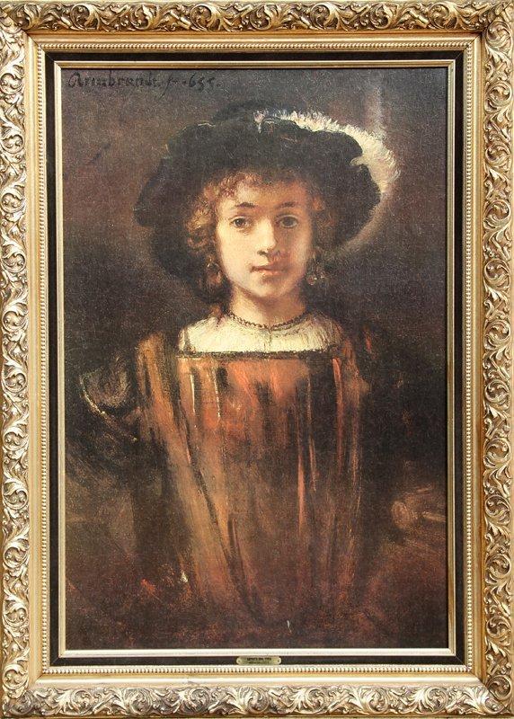 9: Rembrandt van Rijn, The Artist's Son, Titus, Print