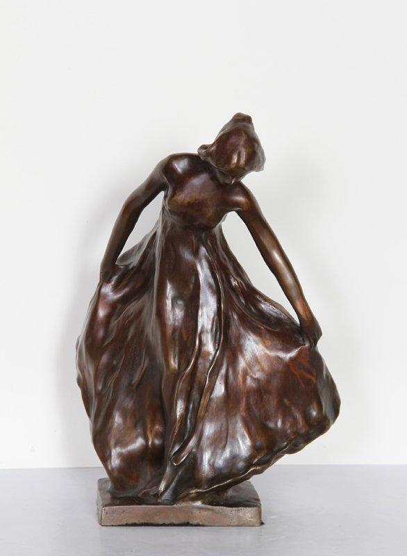 12: Carl Milles, Female Dancer, Bronze Sculpture
