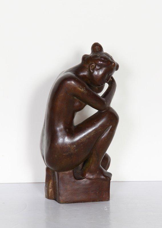 14: Aristide Maillol, Jeune fille accroupie, Bronze Scu