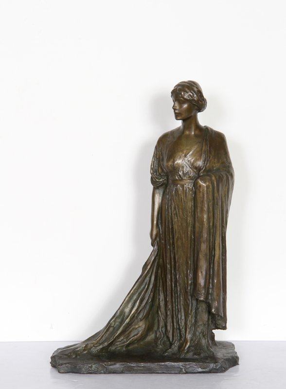 16: Bessie Potter Vonnoh, Standing Woman, Bronze Sculpt