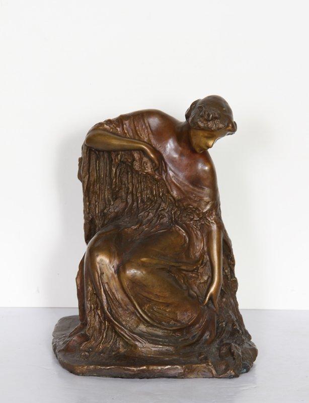 17: Bessie Potter Vonnoh, Woman Dressing, Bronze Sculpt