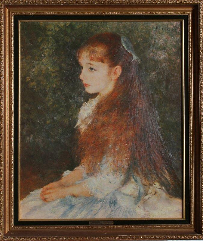 20: Pierre-Auguste Renoir, Irene, Print on Canvas