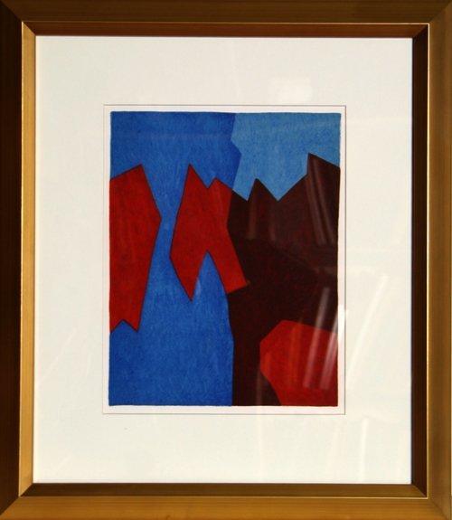 22: Serge Poliakoff, San Lazarro, Lithograph