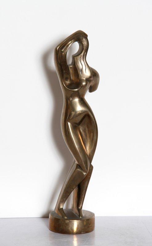 23: Alexander Archipenko, Woman Combing Hair, Bronze Sc