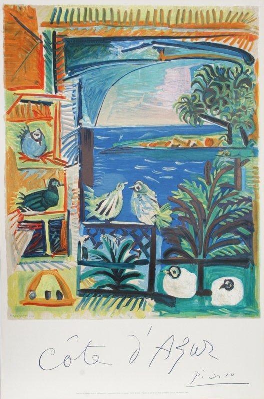 31: Pablo Picasso, Cote d'Azur, Lithograph in 14 Colors