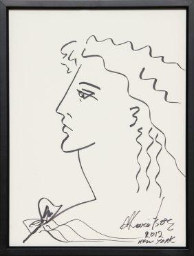 Mara Karetsos, Alexander The Great, Ink Drawing
