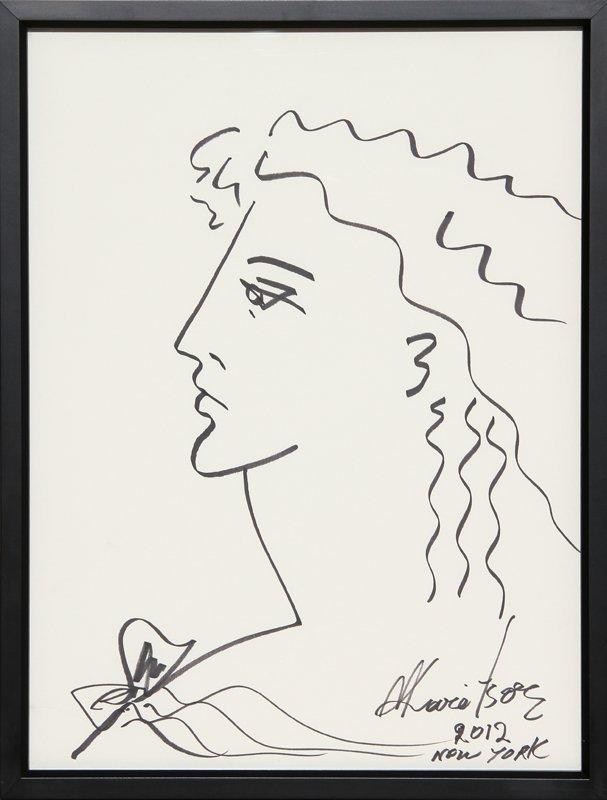 97: Mara Karetsos, Alexander the Great, Ink Drawing