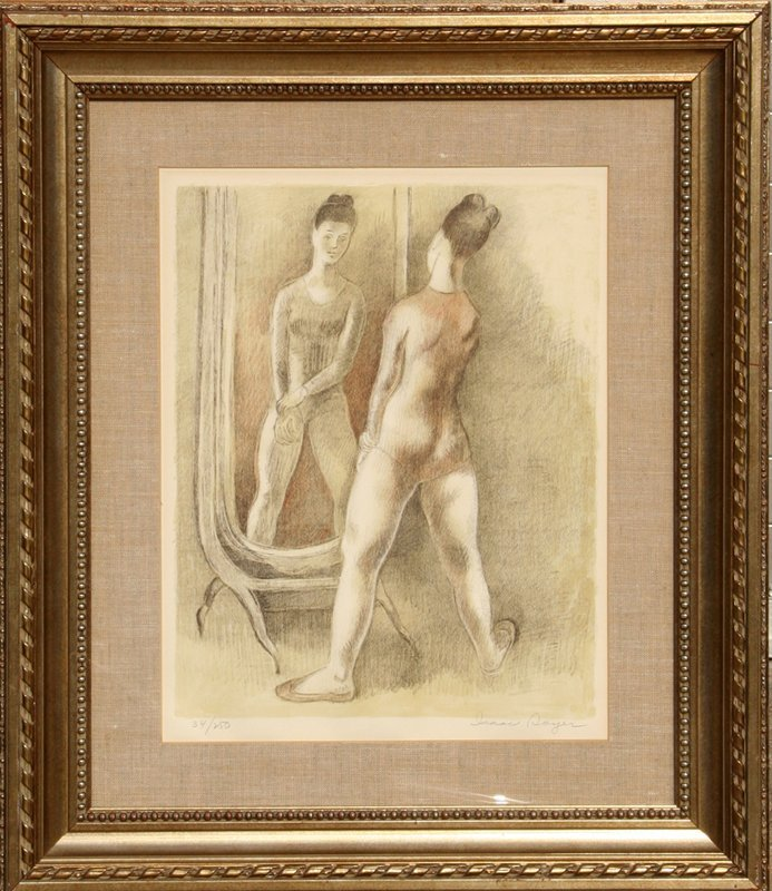 99: Isaac Soyer, Dancer in the Mirror, Lithograph