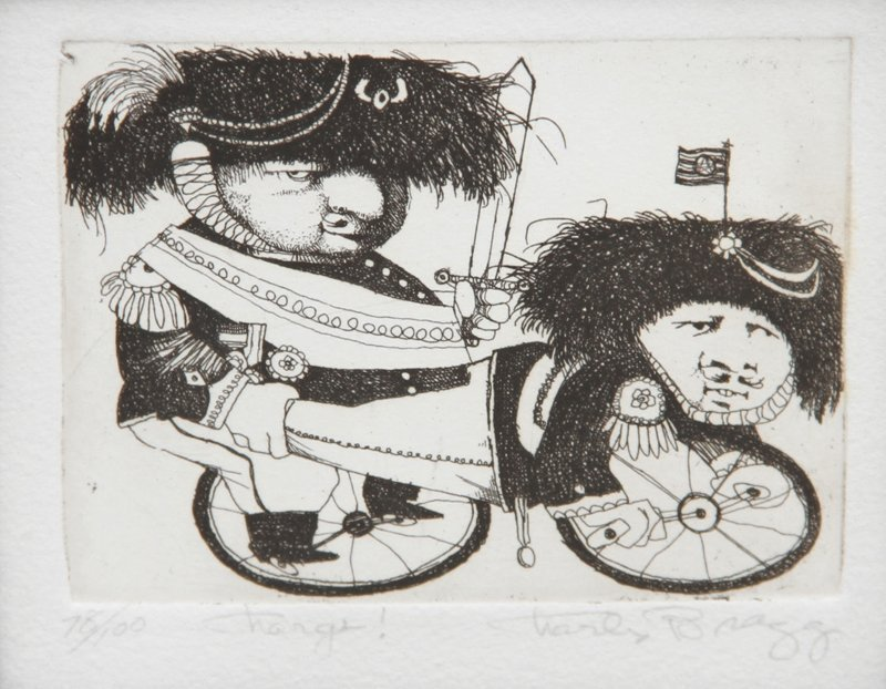 101: Charles Bragg, Charge!, Etching