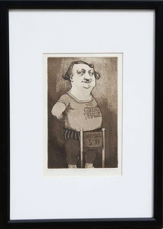 102: Charles Bragg, Side Show, Etching