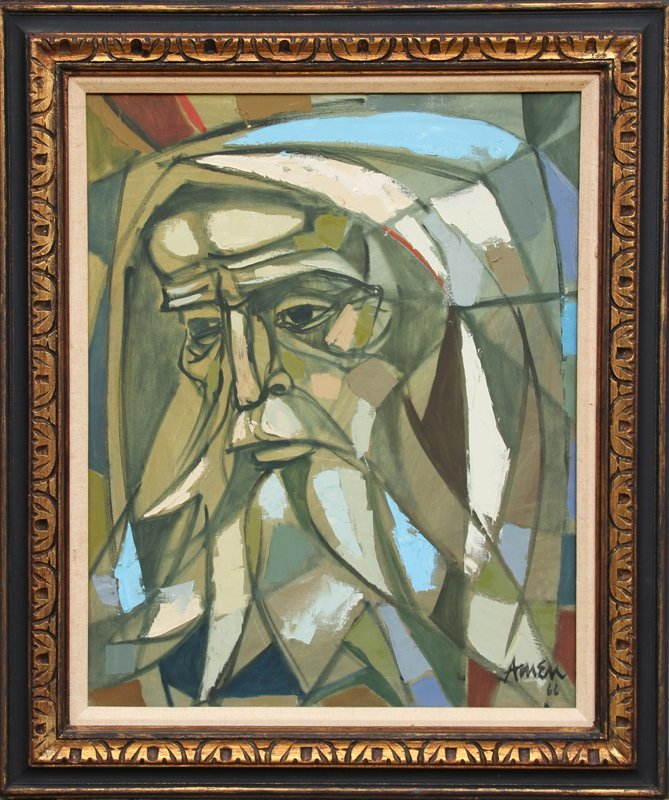 104: Irving Amen, Moses, Oil Painting
