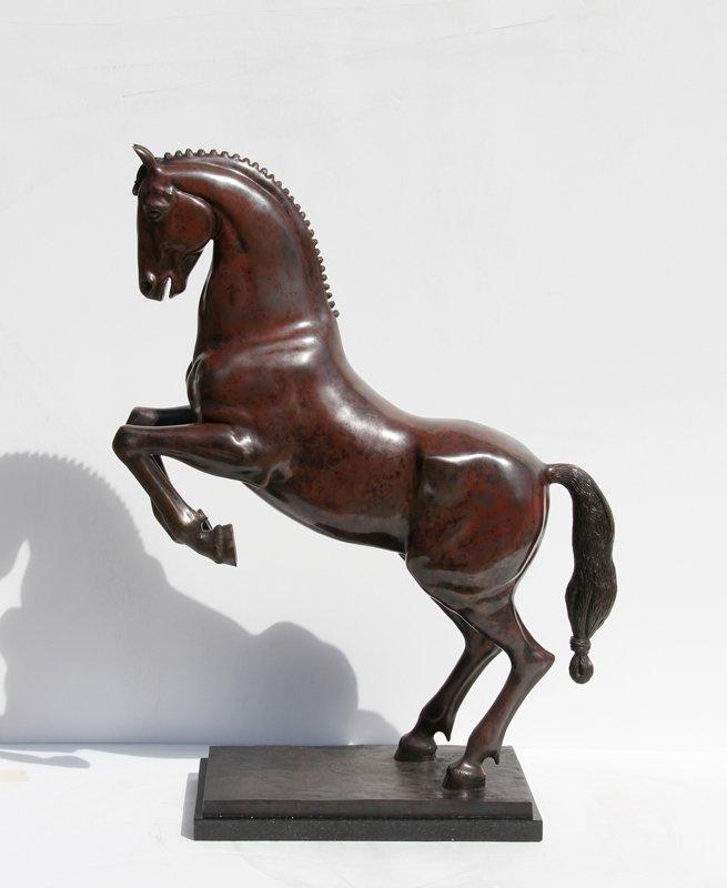 105: Ousseinov, Horse, Bronze Sculpture