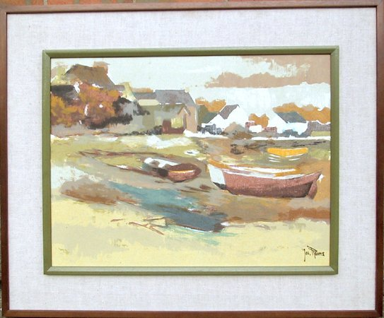109: Joseph Rovers, Seascape, Oil Painting