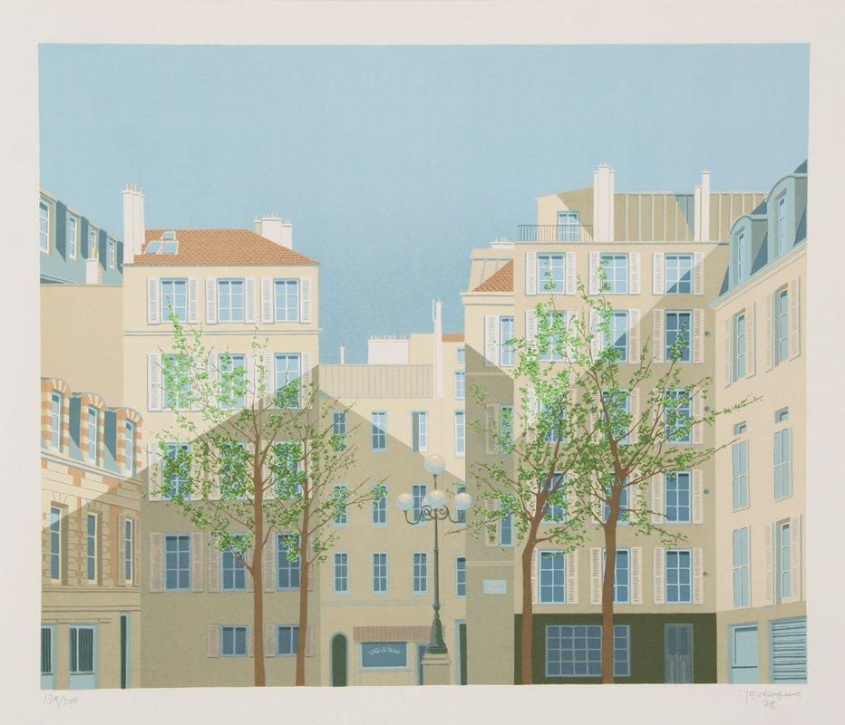 110: Manolo Tarazona, Paris - La Place de Furstemberg,