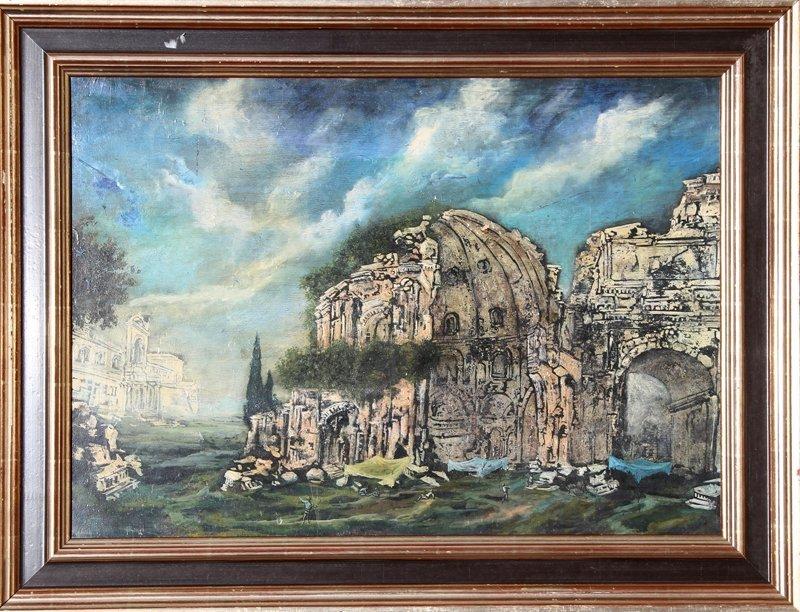 113: Franco Minei, Rovini, Oil Painting