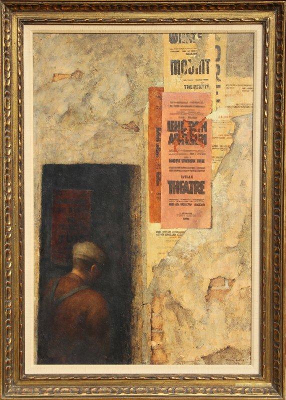 114: Harry Lane, Theatre, Oil Painting