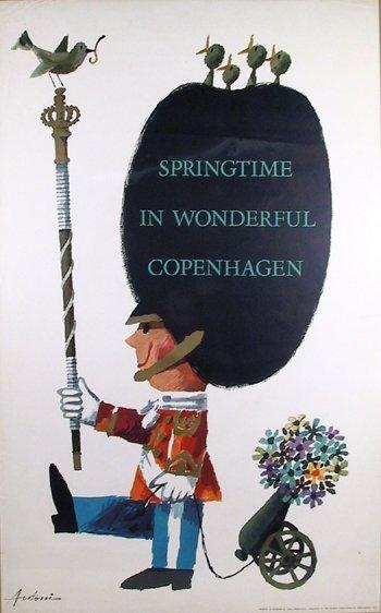 115: Antoni, Denmark, Springtime in Copenhagen, Poster