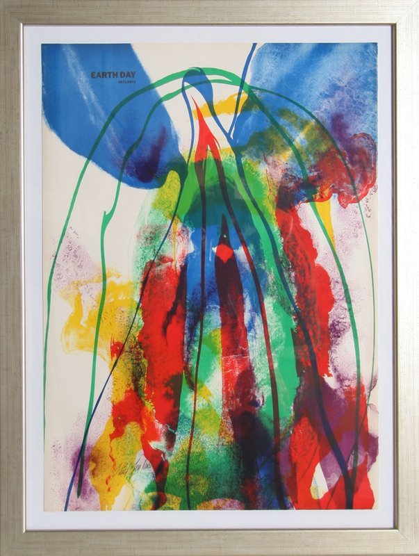 116: Paul Jenkins, Earth Day, Lithograph