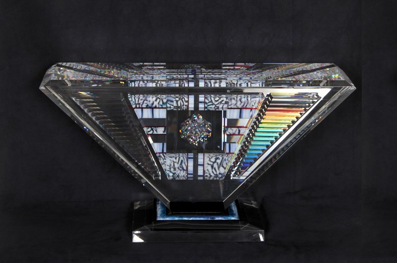 142: Jon Kuhn, Island Jewel, Polished Glass Sculpture