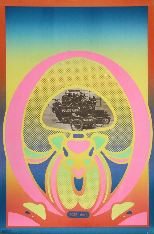 2: Peter Max, Keystone Cops, Poster