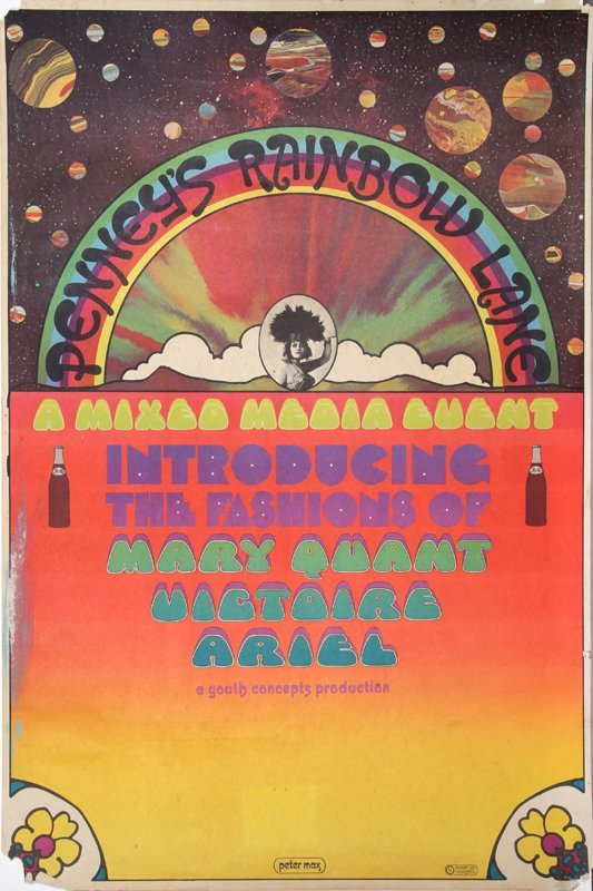 5: Peter Max, Rainbow Lane, Poster