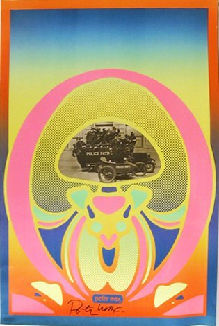 10: Peter Max, Keystone Cops, Signed Poster