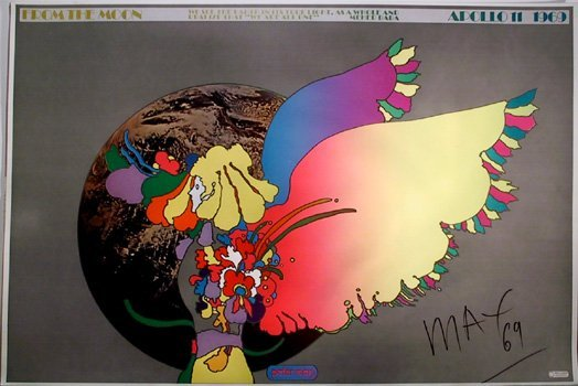 20: Peter Max, Apollo #2, Signed Poster