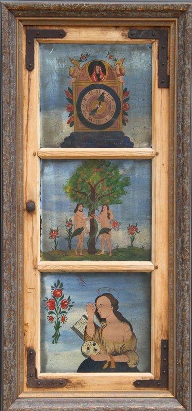 12: Church Window paintings from Kitzbuhel, Austria, Go