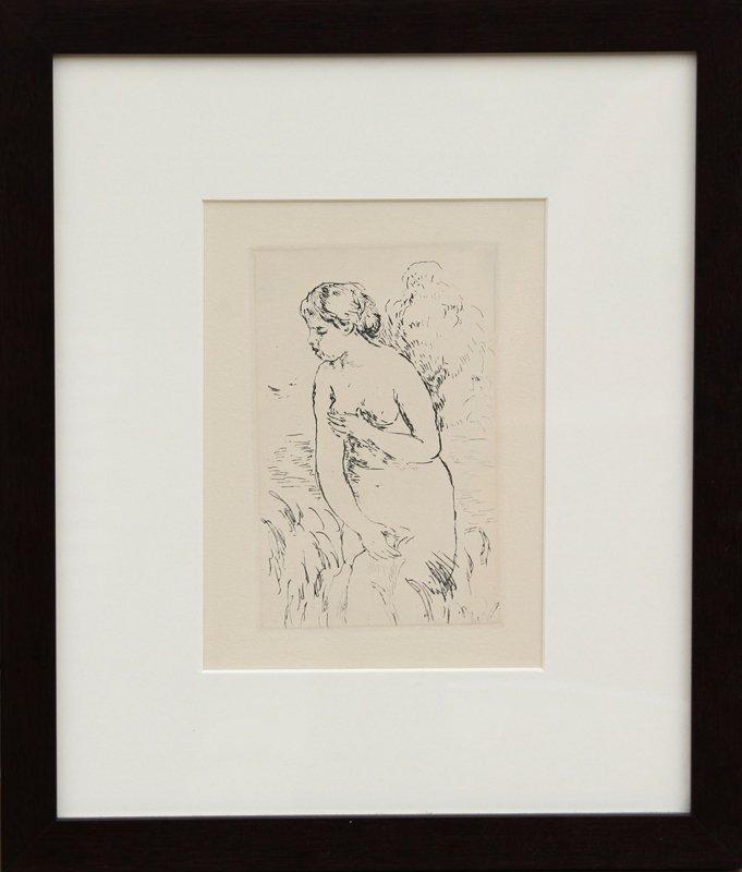 18: Pierre-Auguste Renoir, Baigneuse debout, a mi-jambe