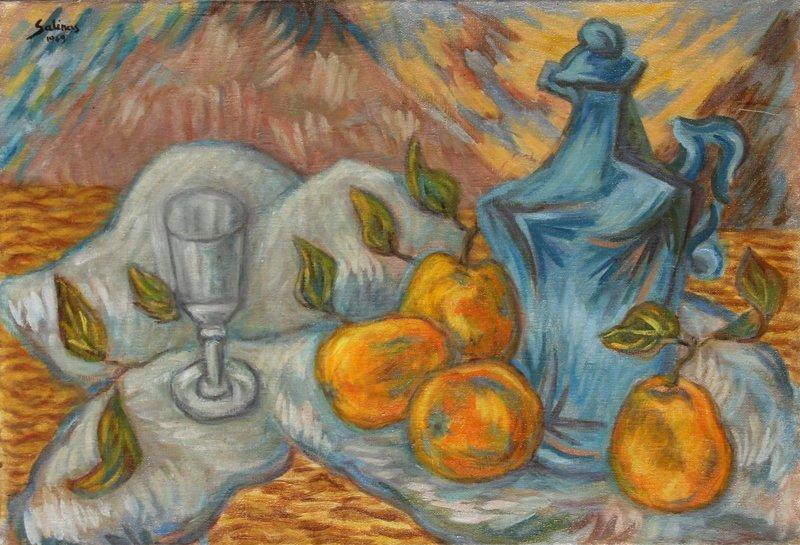 21: Laurent Marcel Salinas, Oranges et a'Piant Bleu, Oi