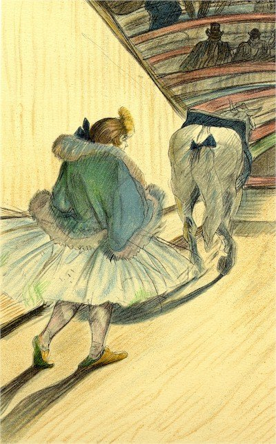 3: Henri de Toulouse-Lautrec, Circus Portfolio 9, Litho