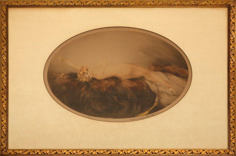 7: Louis Icart, Venus, Etching