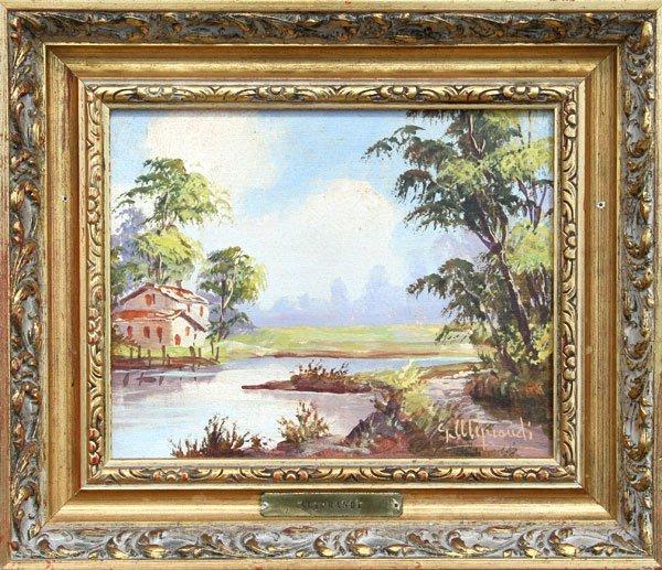 13: Aliprandi, Landscape, Oil Painting