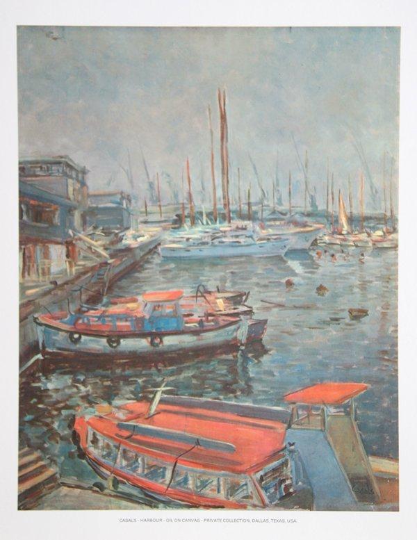 17: Amadeu Casals Pons, Harbour, Poster