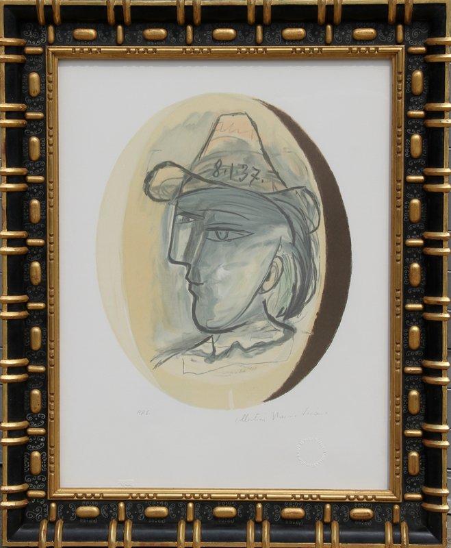 18: Pablo Picasso, Tete, Lithograph