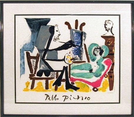 19: Pablo Picasso, Le Peintre et son Modele, Lithograph