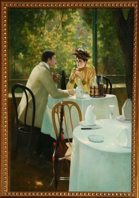 3: Robert Brackman, Seated in a Cafe, Oil Painting